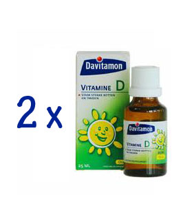 Davitamon Vitamine D Olie - 25 ml (2 pack - € 5,95 / st.)