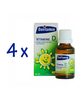 Davitamon Vitamine D Olie - 25 ml (4 pack - € 5,45 / st.)