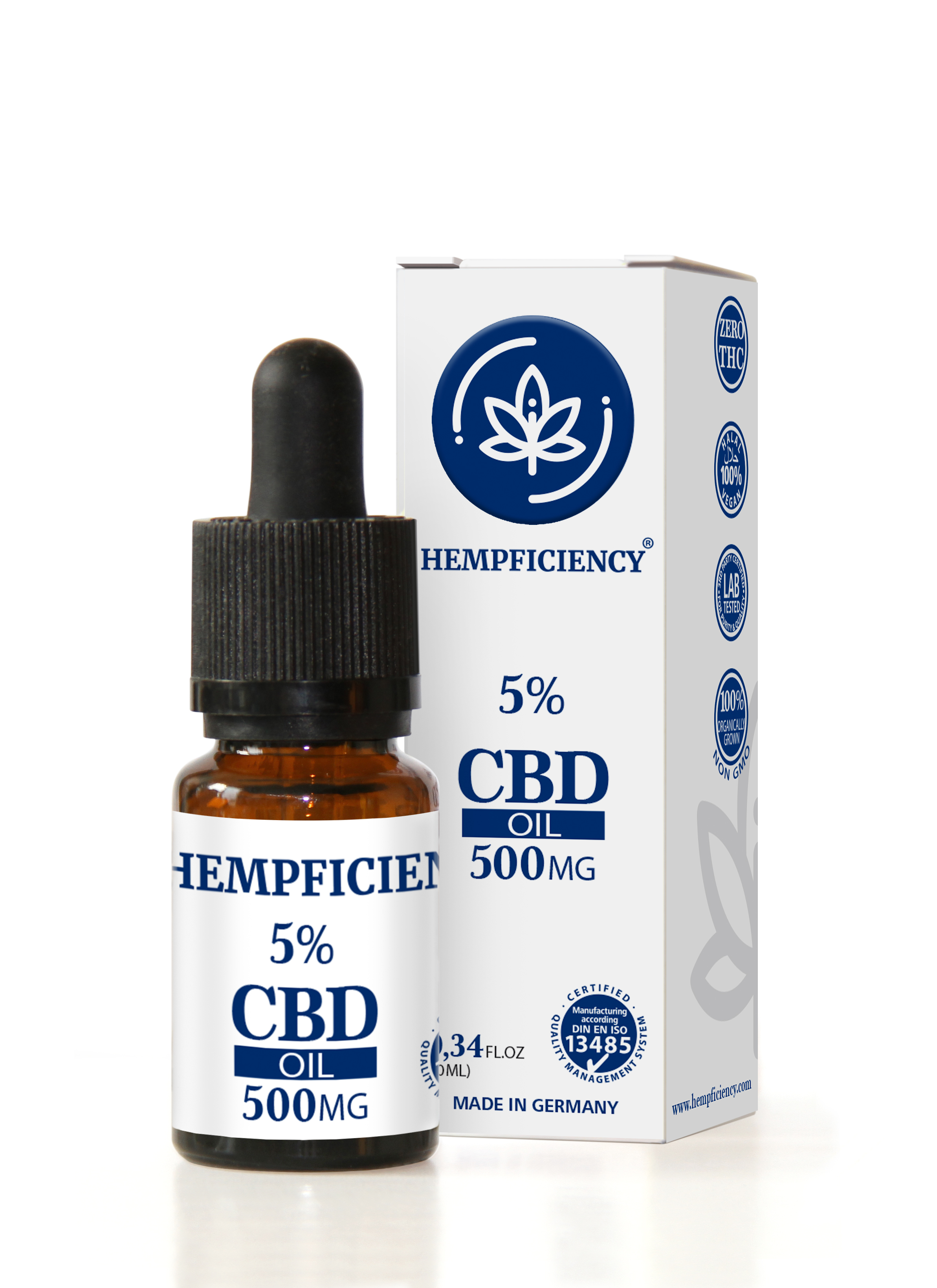 Hempficiency CBD Oil 5% - 10ml