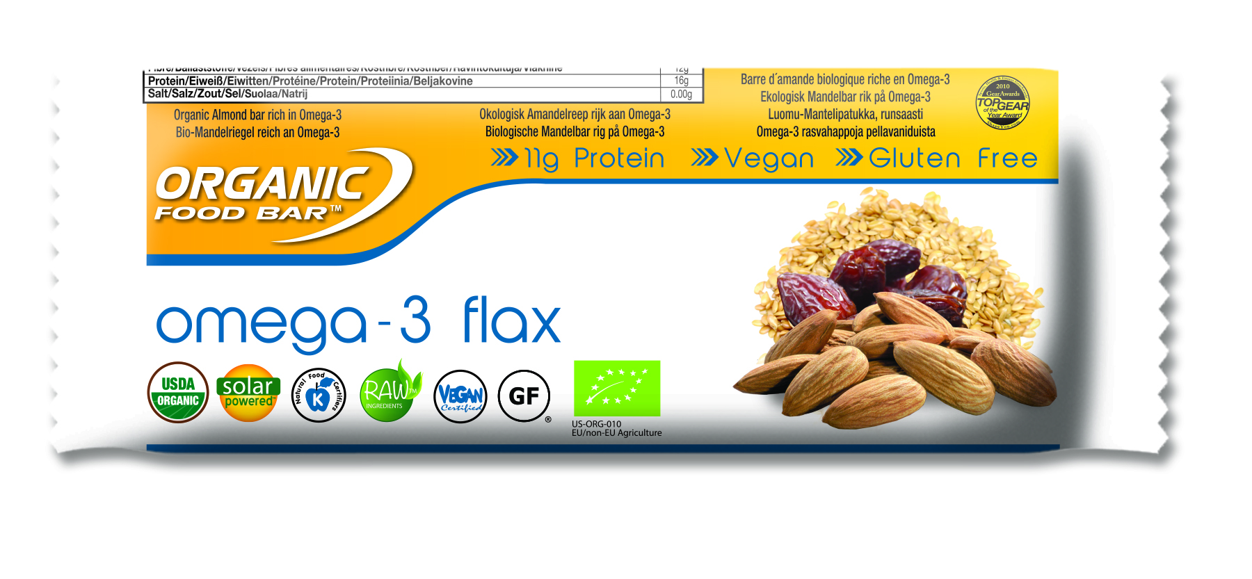 Organic Food Bar Omega-3 Flax