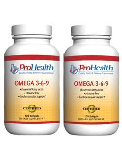 Omega 3-6-9, 100 softgels (2 pack - € 16,25 p.s.t.)