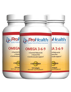Omega 3-6-9, 100 softgels (3 pack - € 15,00 p.s.t.)