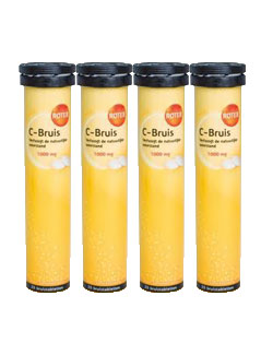 Roter Vitamine C-Bruis 1000 mg - 20 tabl. (4 pack - € 4,79 / st.)