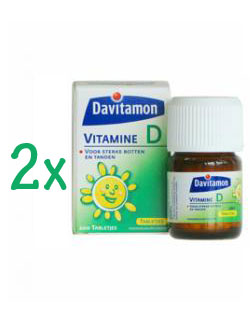 Davitamon Vitamine D - 200 Tabletten (2 pack - € 5.95 / st.)