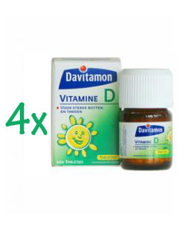 Davitamon Vitamine D - 200 Tabletten (4 pack - € 5,45 / st.)